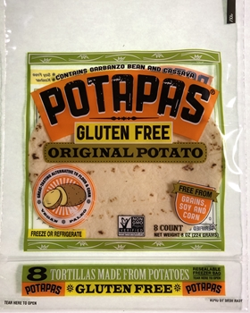 Potapas, Original Potato Tortillas, 8 oz (12 Pack)