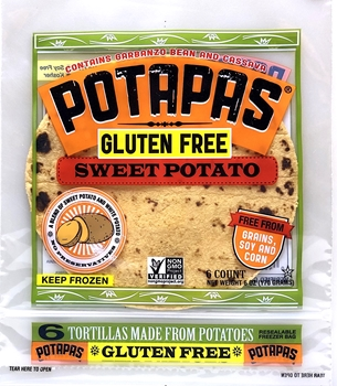 Potapas, Sweet Potato Tortillas, 6 oz (8 Pack)